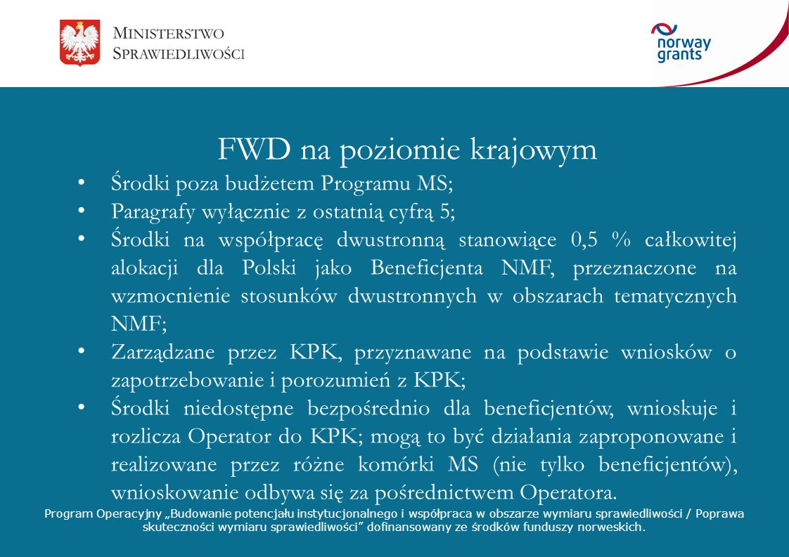 FWD na poziomie krajowym