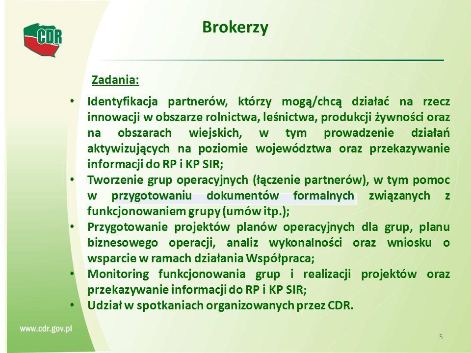 Brokerzy Zadania: