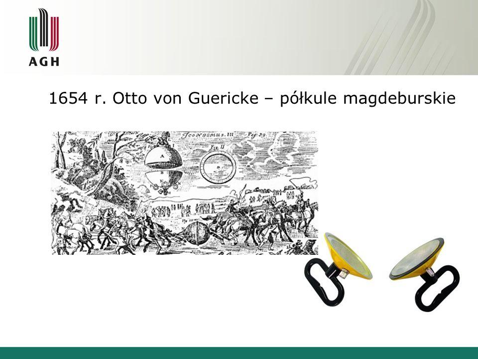 1654 r. Otto von Guericke – półkule magdeburskie