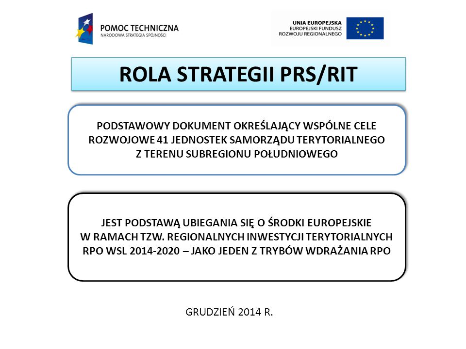 ROLA STRATEGII PRS/RIT