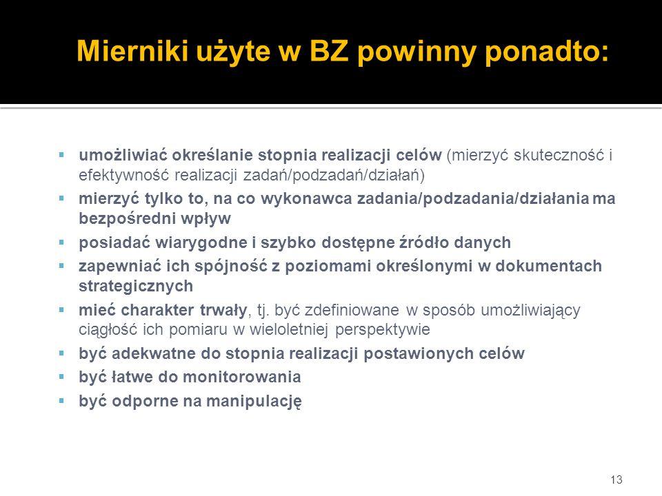 Mierniki użyte w BZ powinny ponadto: