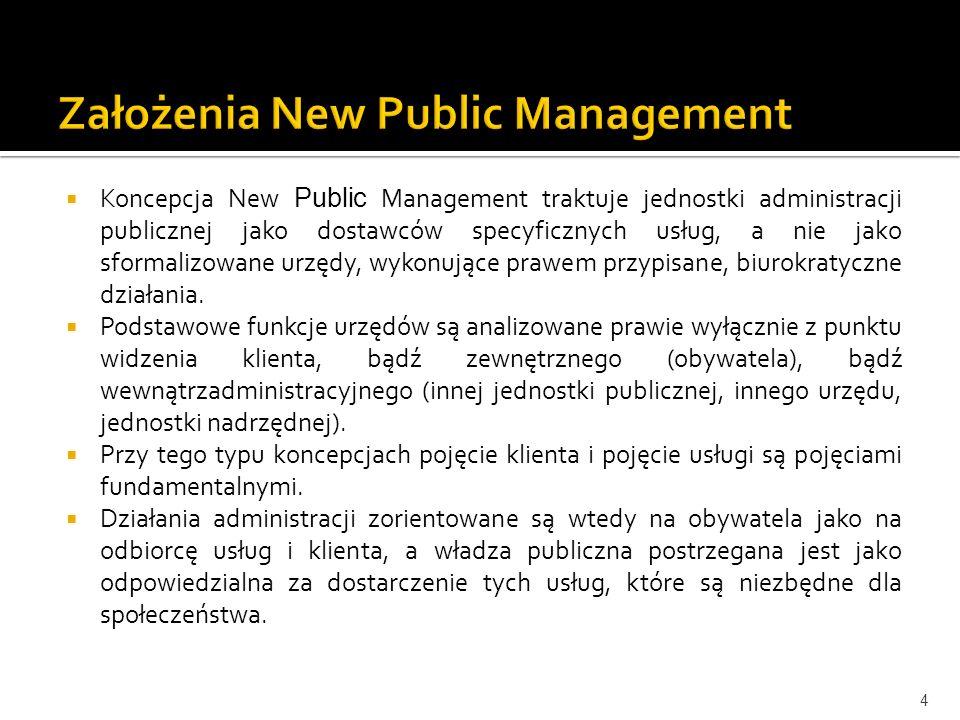 Założenia New Public Management