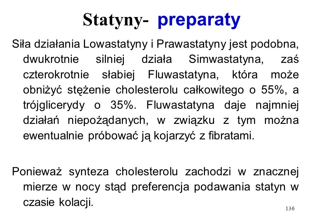 Statyny- preparaty