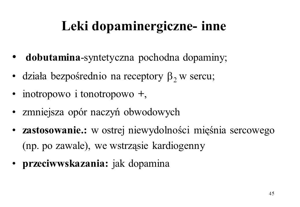 Leki dopaminergiczne- inne