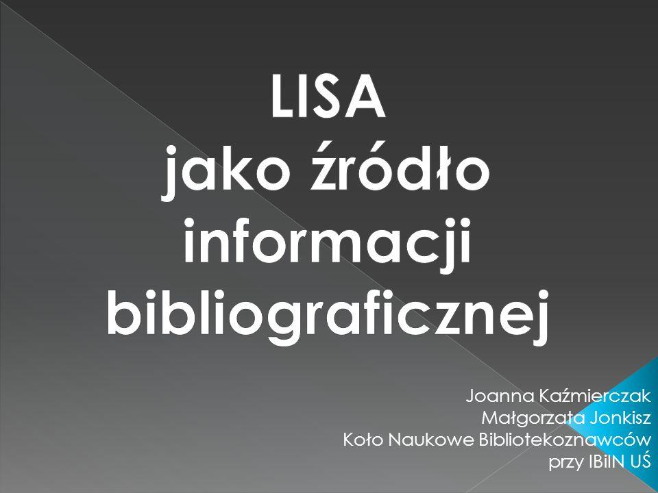 LISA jako źródło informacji bibliograficznej