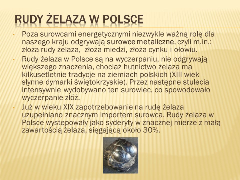 Rudy żelaza w Polsce