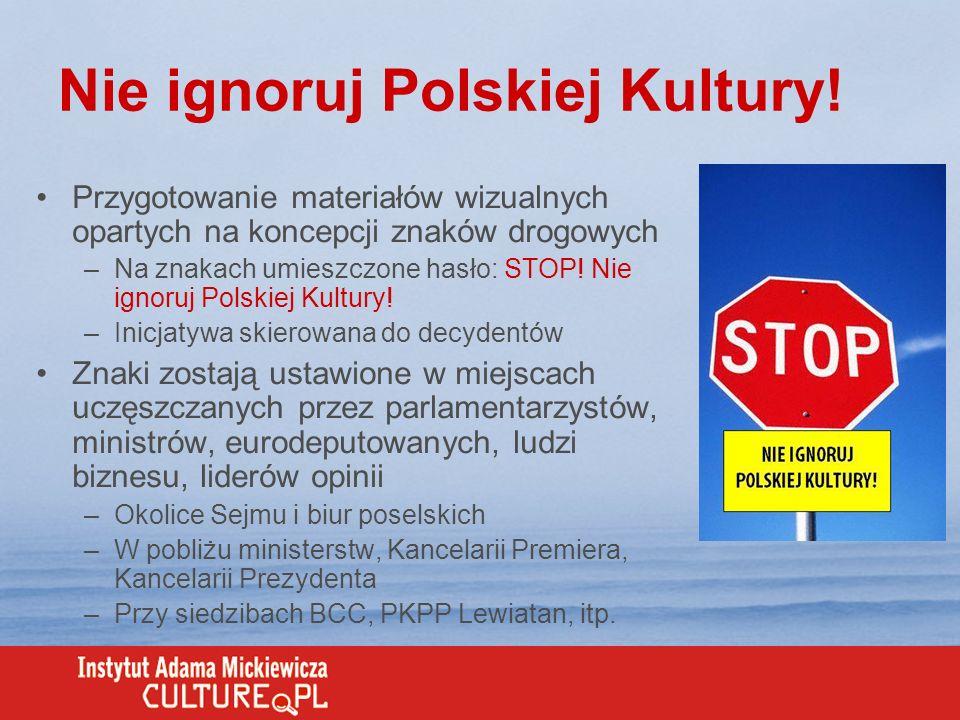 Nie ignoruj Polskiej Kultury!