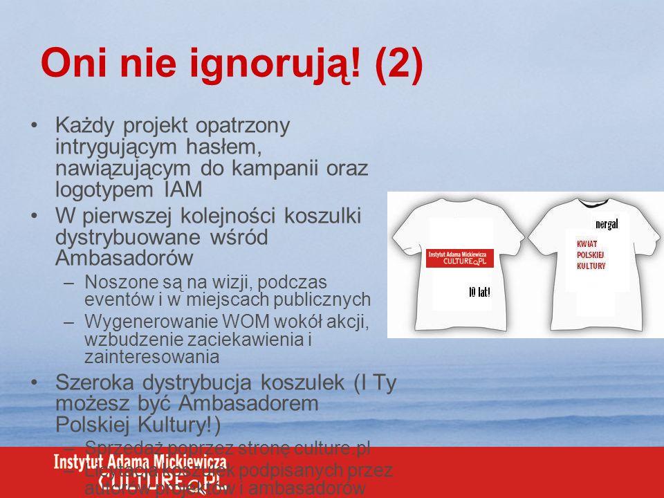 Oni nie ignorują! (2) Każdy projekt opatrzony intrygującym hasłem, nawiązującym do kampanii oraz logotypem IAM.