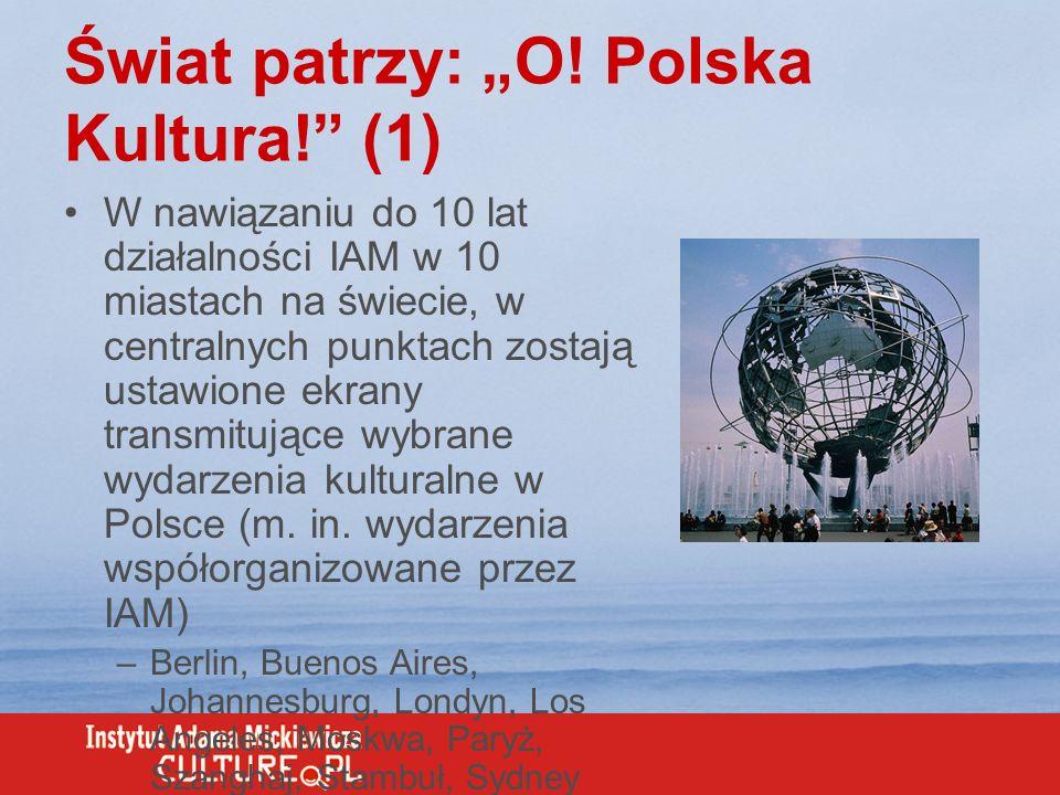 """Świat patrzy: """"O! Polska Kultura! (1)"""
