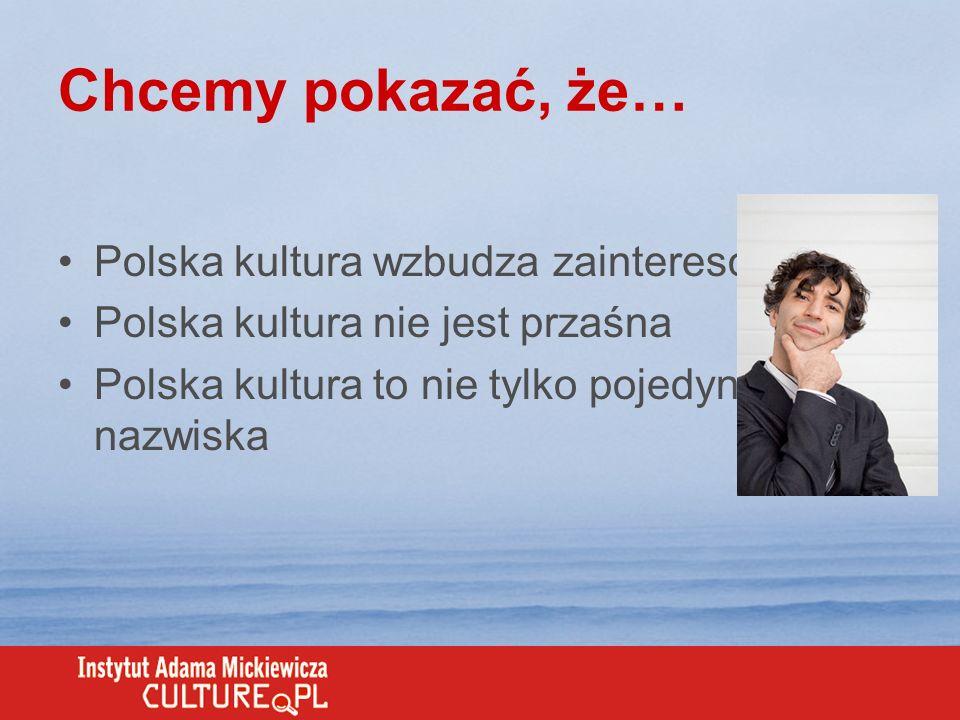 Chcemy pokazać, że… Polska kultura wzbudza zainteresowanie