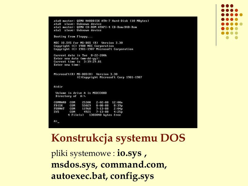 Konstrukcja systemu DOS