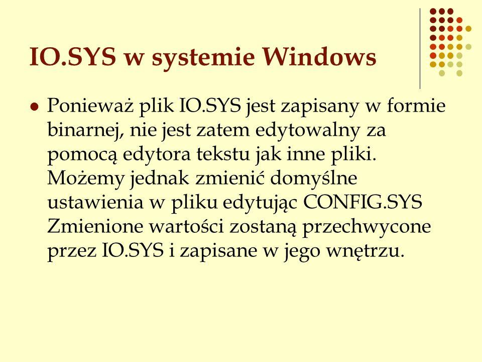 IO.SYS w systemie Windows