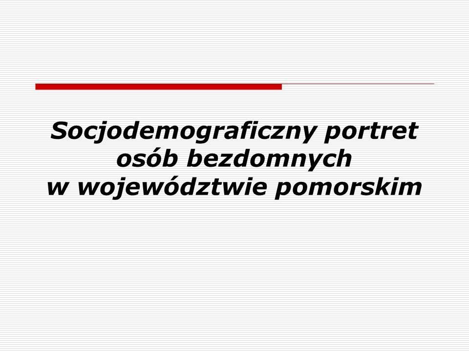Socjodemograficzny portret osób bezdomnych w województwie pomorskim