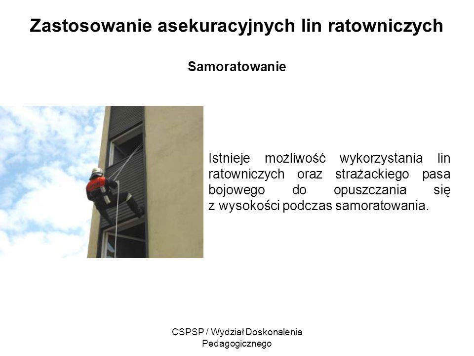 Zastosowanie asekuracyjnych lin ratowniczych Samoratowanie