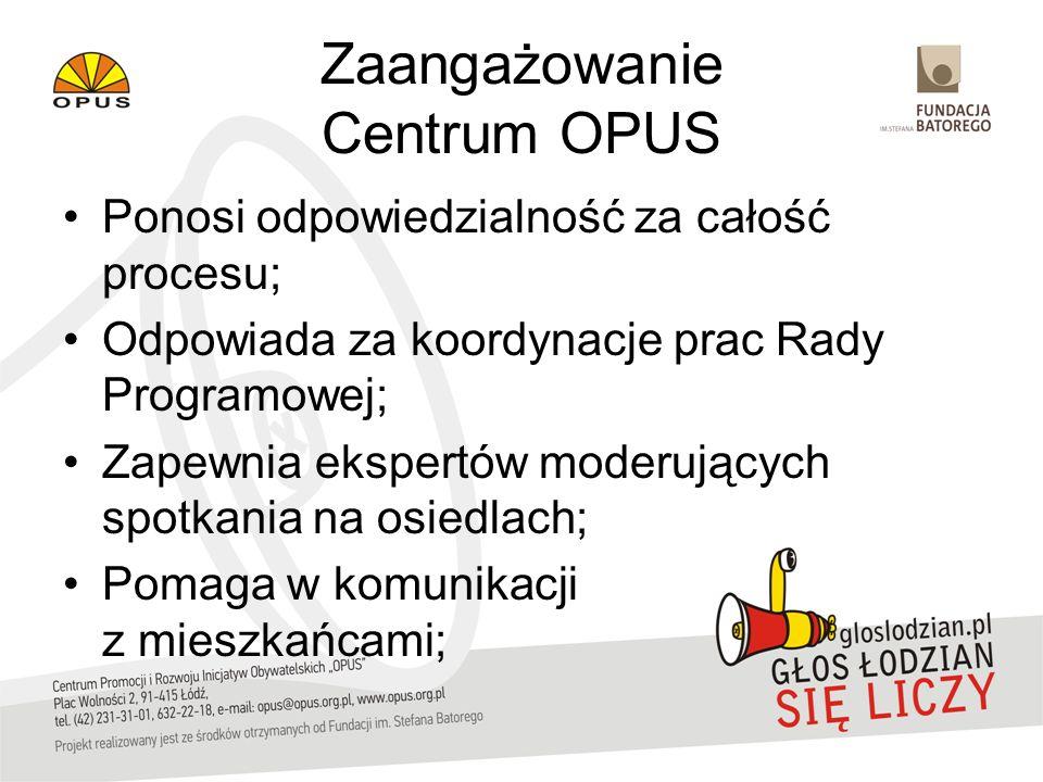 Zaangażowanie Centrum OPUS