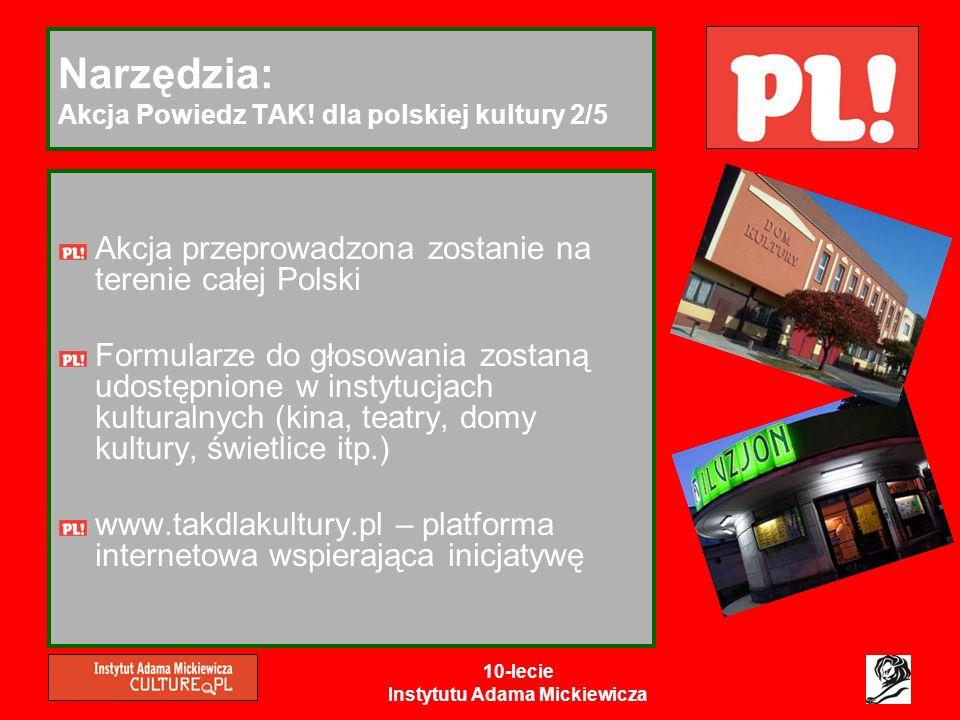 Narzędzia: Akcja Powiedz TAK! dla polskiej kultury 2/5