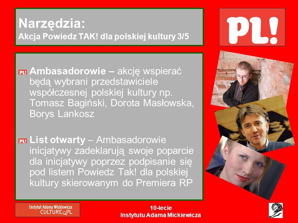 Narzędzia: Akcja Powiedz TAK! dla polskiej kultury 3/5