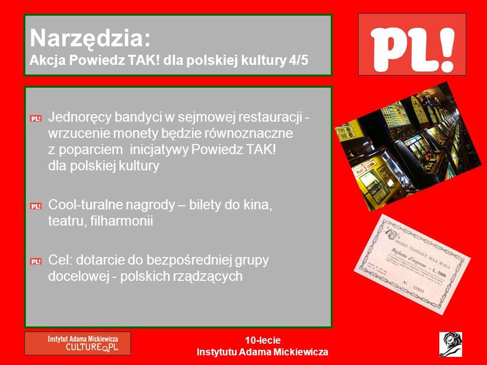 Narzędzia: Akcja Powiedz TAK! dla polskiej kultury 4/5