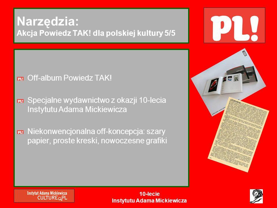 Narzędzia: Akcja Powiedz TAK! dla polskiej kultury 5/5