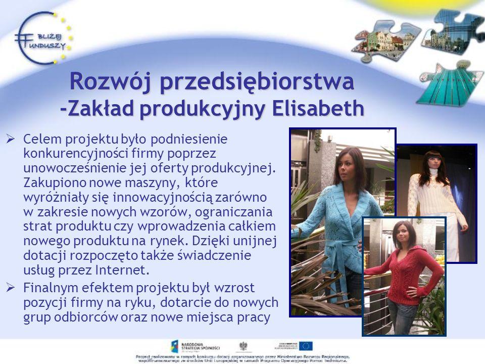 Rozwój przedsiębiorstwa -Zakład produkcyjny Elisabeth
