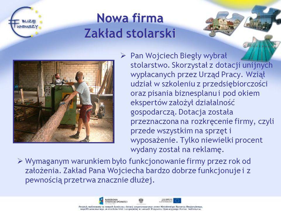 Nowa firma Zakład stolarski