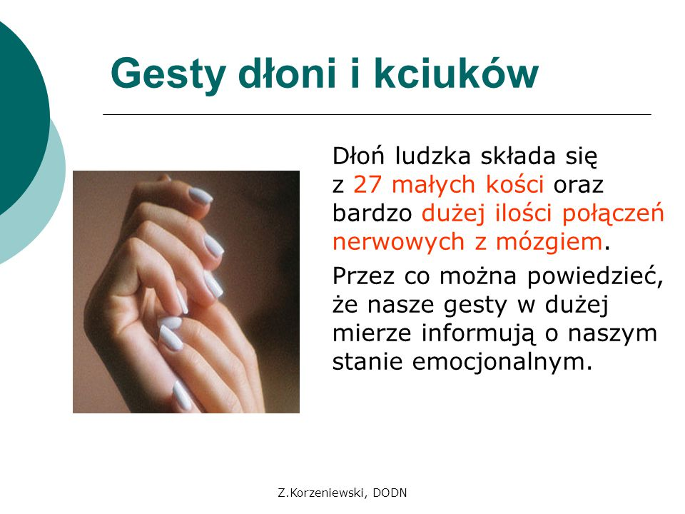 Gesty dłoni i kciuków