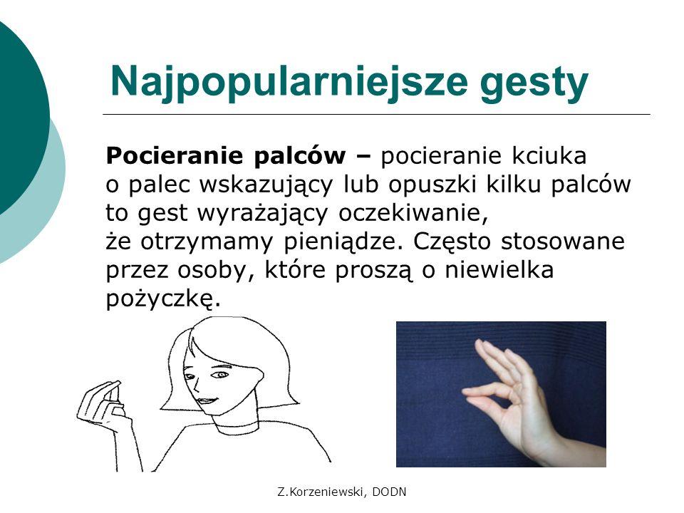 Najpopularniejsze gesty