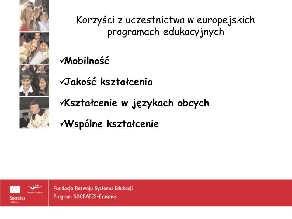Korzyści z uczestnictwa w europejskich programach edukacyjnych