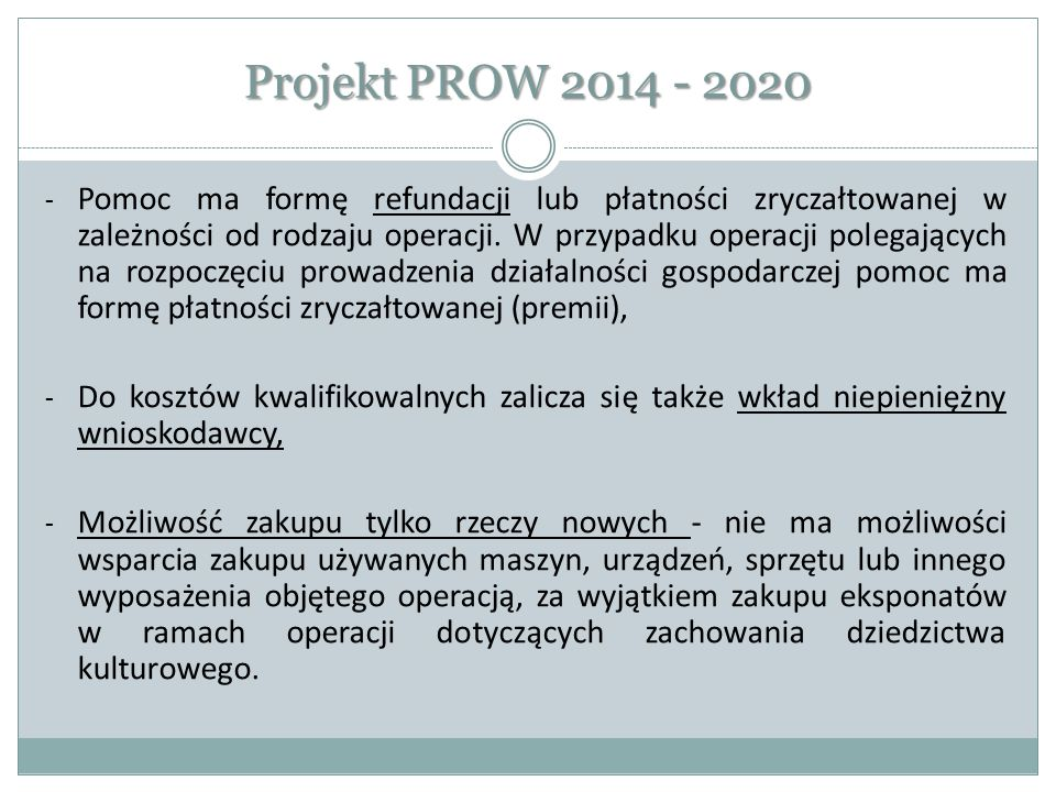 Projekt PROW 2014 - 2020