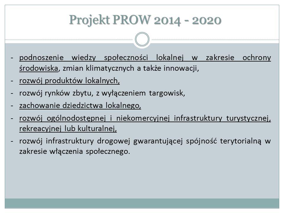 Projekt PROW 2014 - 2020 podnoszenie wiedzy społeczności lokalnej w zakresie ochrony środowiska, zmian klimatycznych a także innowacji,