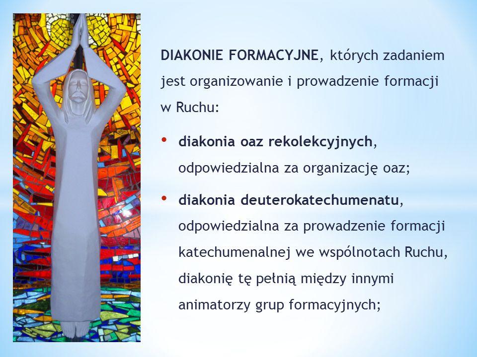 DIAKONIE FORMACYJNE, których zadaniem jest organizowanie i prowadzenie formacji w Ruchu: