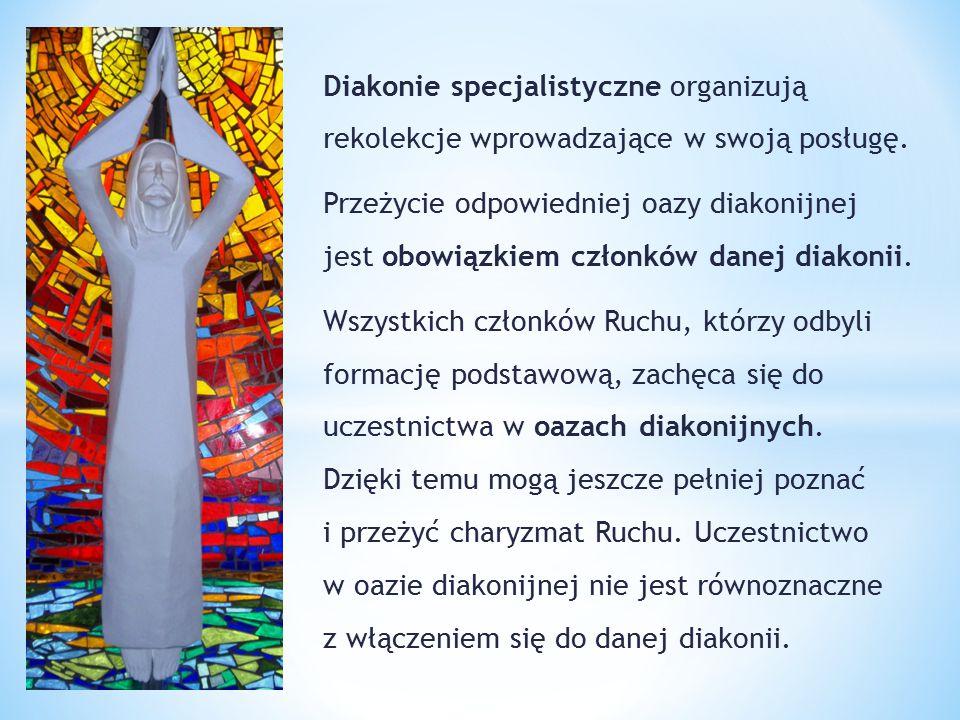 Diakonie specjalistyczne organizują rekolekcje wprowadzające w swoją posługę.