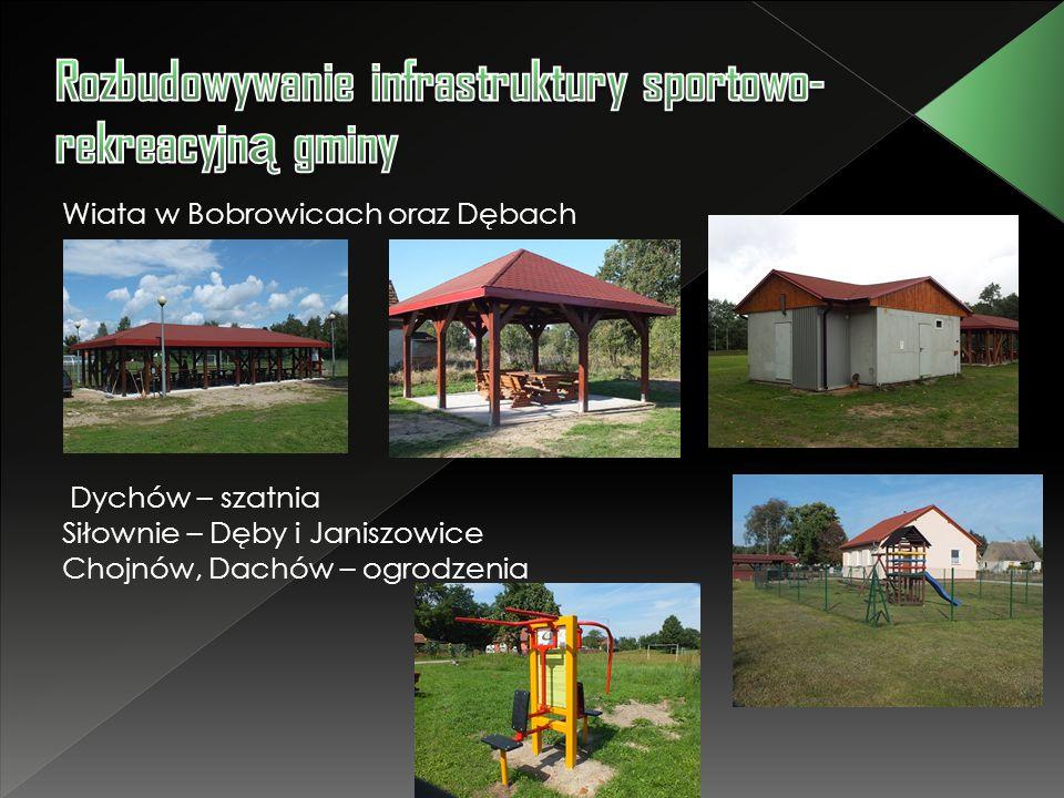 Rozbudowywanie infrastruktury sportowo-rekreacyjną gminy