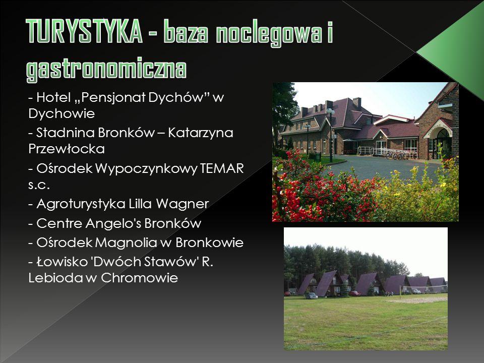 TURYSTYKA - baza noclegowa i gastronomiczna