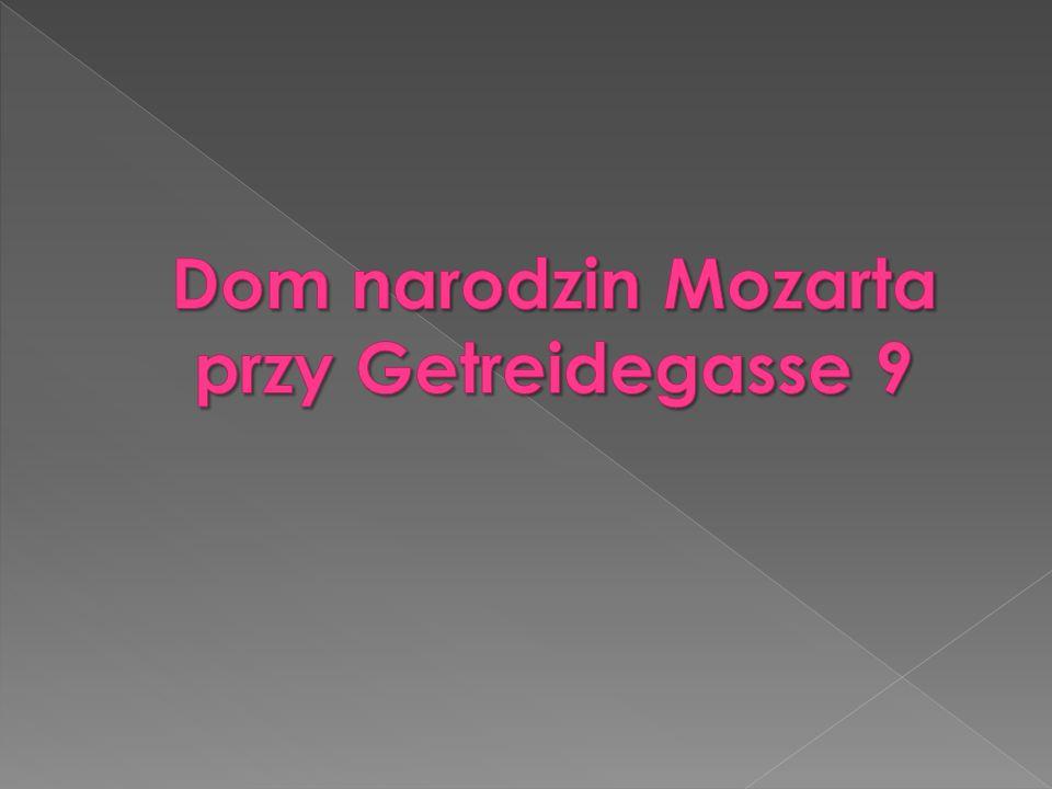 Dom narodzin Mozarta przy Getreidegasse 9
