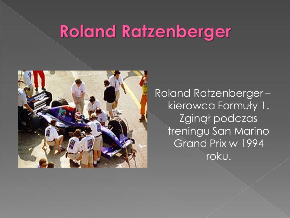 Roland Ratzenberger Roland Ratzenberger – kierowca Formuły 1.
