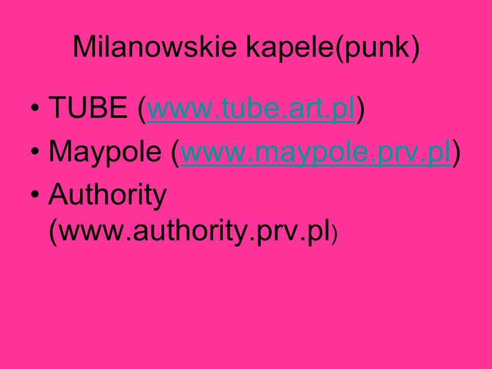 Milanowskie kapele(punk)