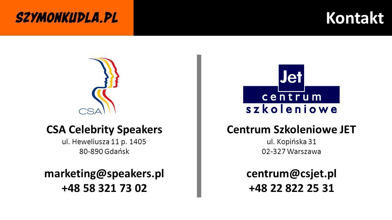 CSA Celebrity Speakers Centrum Szkoleniowe JET