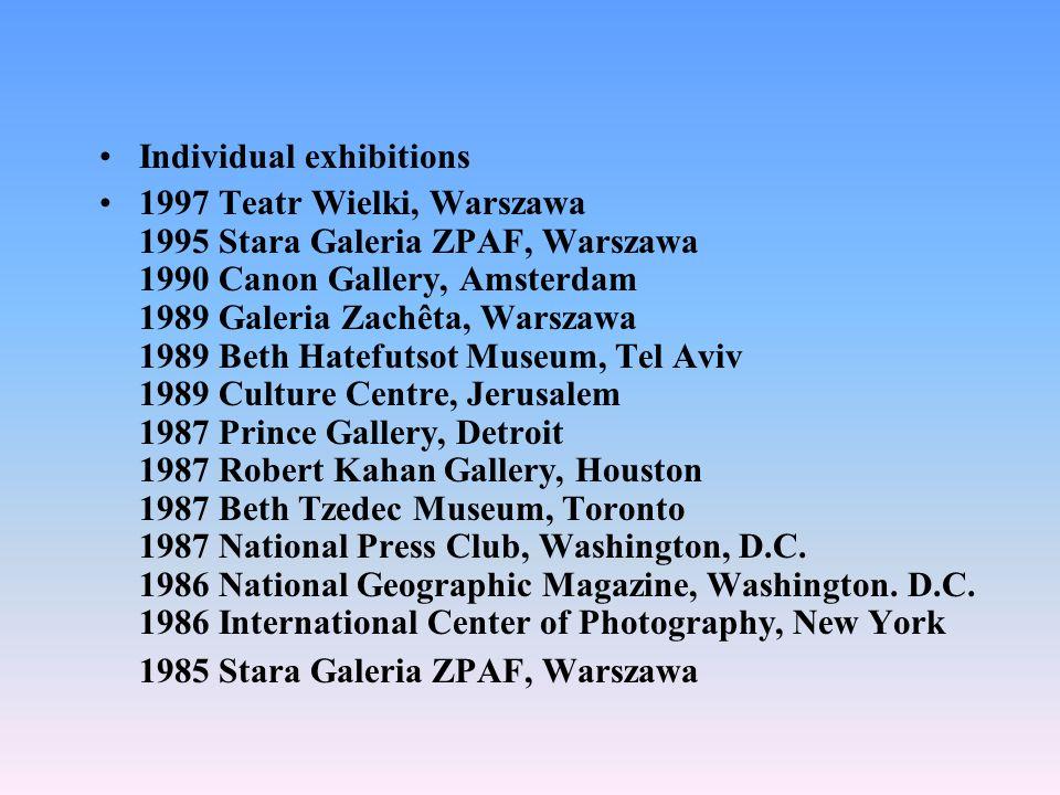 Individual exhibitions