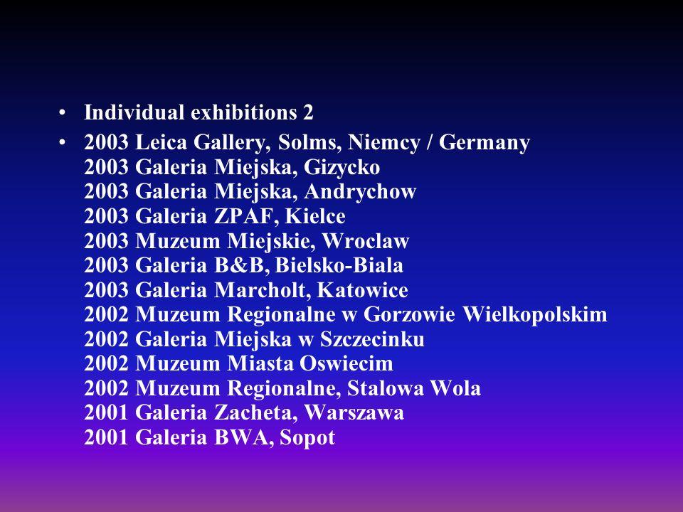 Individual exhibitions 2