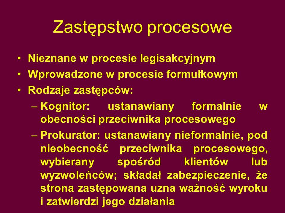 Zastępstwo procesowe Nieznane w procesie legisakcyjnym