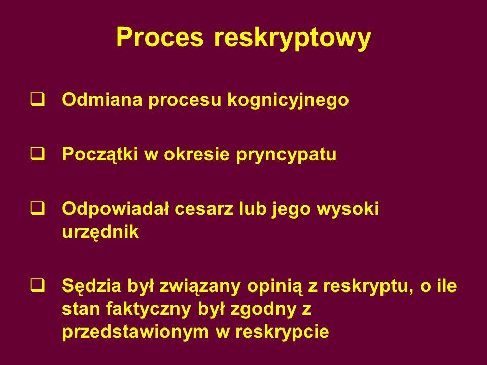 Proces reskryptowy Odmiana procesu kognicyjnego