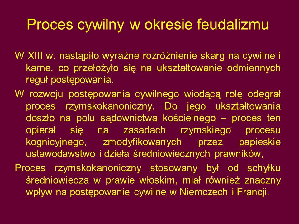 Proces cywilny w okresie feudalizmu