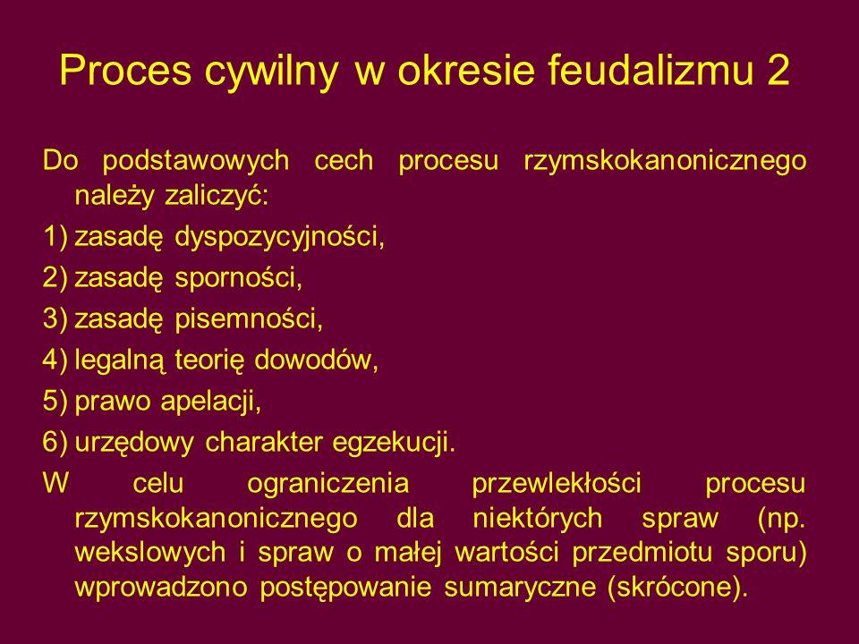 Proces cywilny w okresie feudalizmu 2