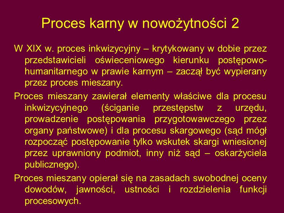 Proces karny w nowożytności 2