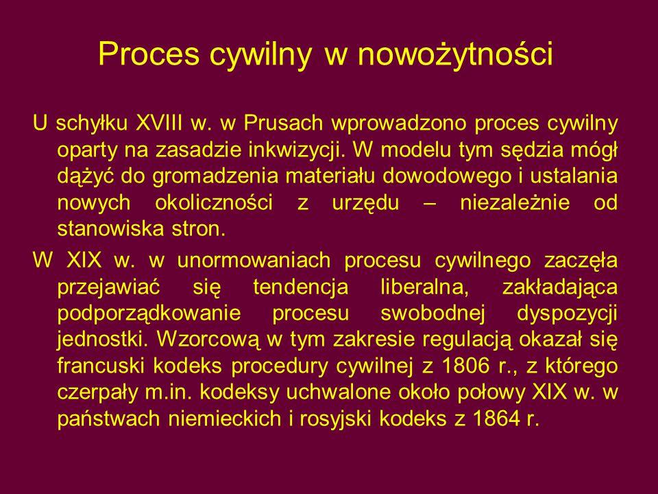 Proces cywilny w nowożytności
