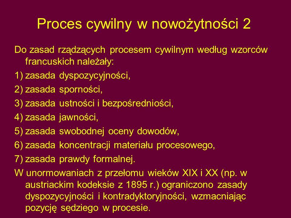 Proces cywilny w nowożytności 2