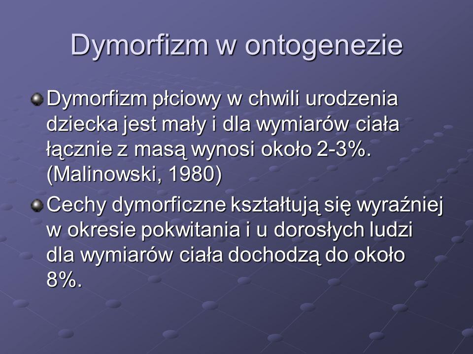 Dymorfizm w ontogenezie