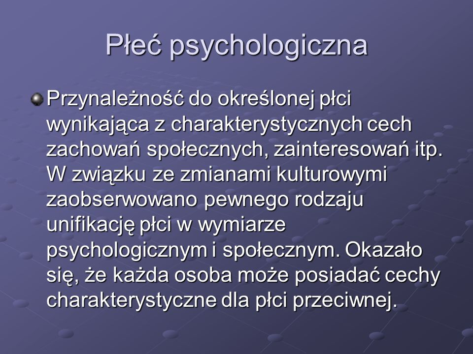 Płeć psychologiczna