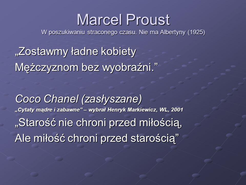 Marcel Proust W poszukiwaniu straconego czasu. Nie ma Albertyny (1925)